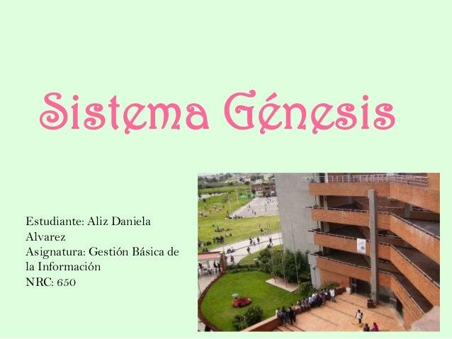 Sistema Génesis