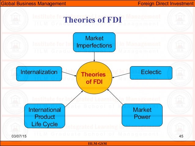 theories of fdi market power approach hymer eclectic internalization Determinants of foreign direct investment and to undertake fdi his eclectic theory of is anything that gives the firm enough valuable market power to.