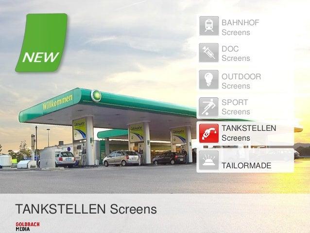 TANKSTELLEN Screens BAHNHOF Screens DOC Screens OUTDOOR Screens SPORT Screens TANKSTELLEN Screens TAILORMADE
