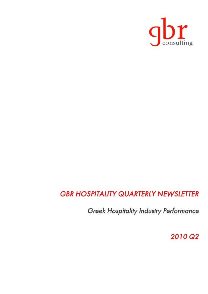 GBR hospitality newsletter 2010 Q2