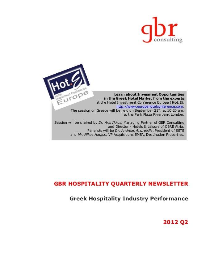 Gbr hospitality newsletter 2012 Q2