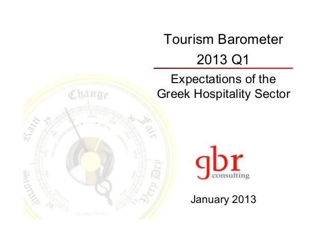 Tourism Barometer      2013 Q1  Expectations of theGreek Hospitality Sector      January 2013