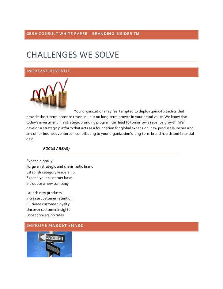 GBSH Consult white paper