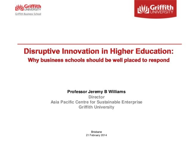 Professor Jeremy B Williams Director Asia Pacific Centre for Sustainable Enterprise Griffith University  Brisbane 21 Febru...