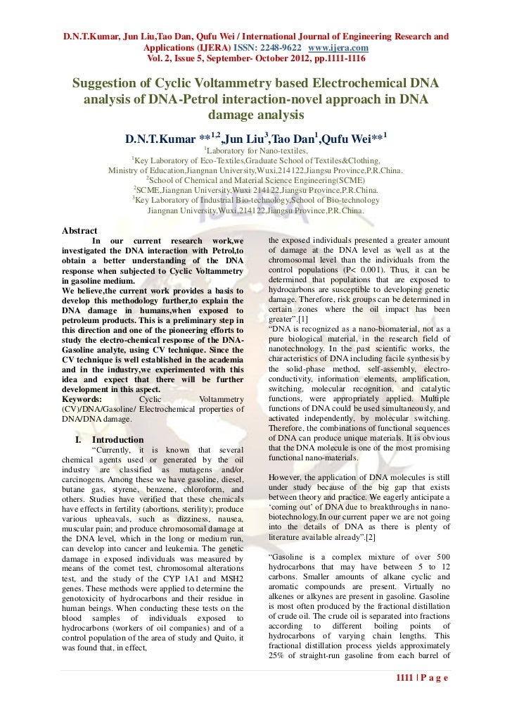 D.N.T.Kumar, Jun Liu,Tao Dan, Qufu Wei / International Journal of Engineering Research and                 Applications (I...