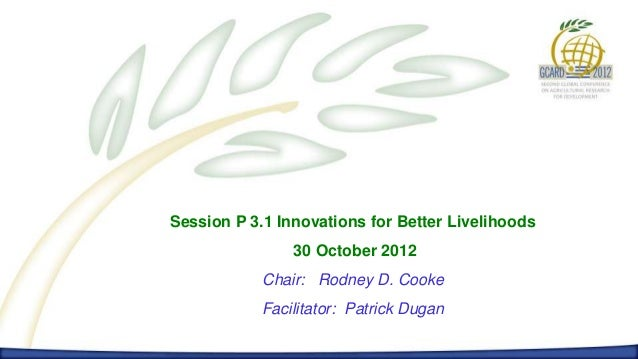 P 3.1 Innovations for Better Livelihoods