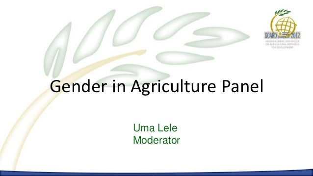 1st day. Gender in Agriculture Panel