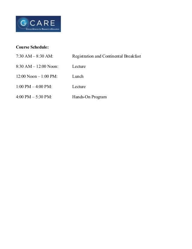 Live Course Agenda CCO