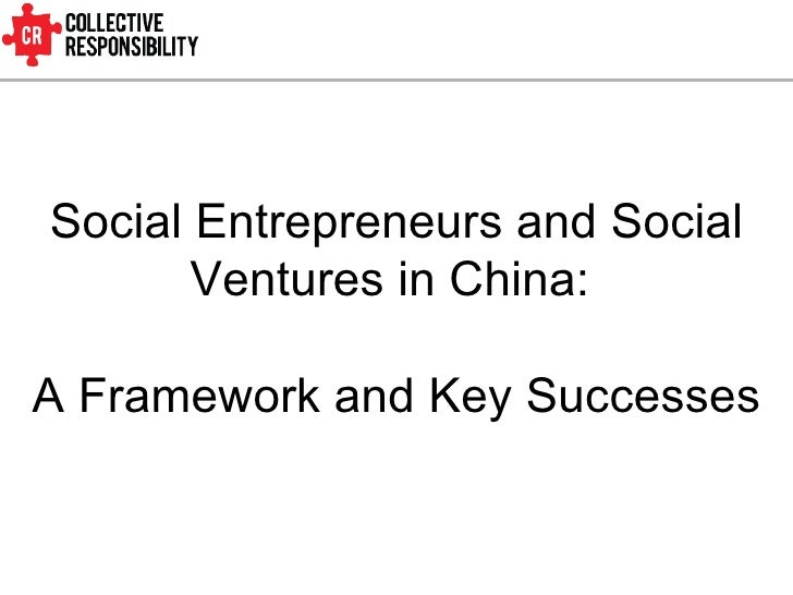 Social Entrepreneurs and Social Ventures in China:  A Framework and Key Successes