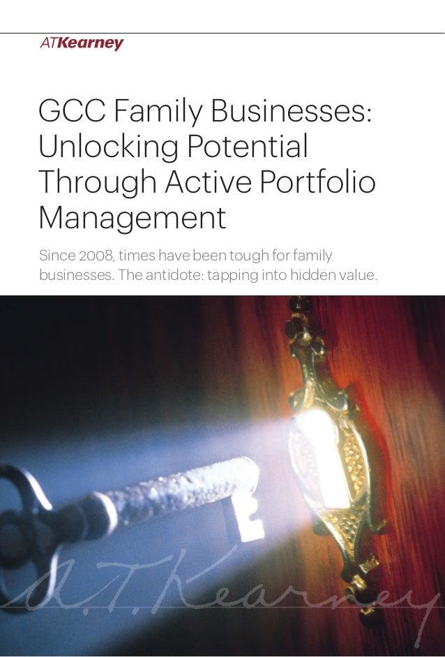 A.T. Kearney: GCC Family Businesses: Unlocking Potential Through Active Portfolio Management
