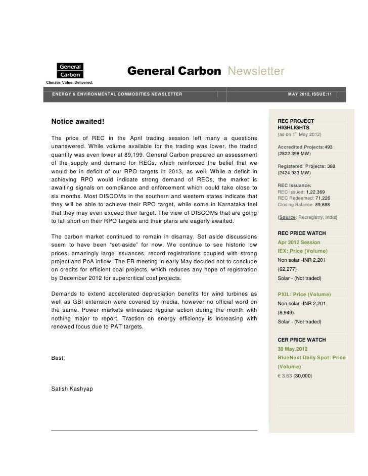 GC Energy & Environmental Newsletter   May 2012