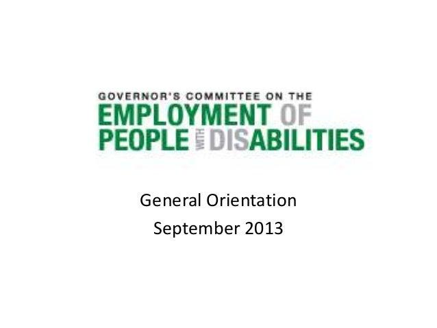 GCEPD - General Orientation
