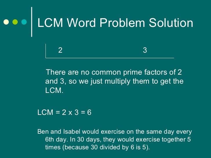 Gcf lcm word problems worksheet 6th grade