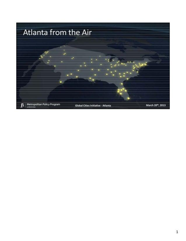 Brookings Metropolitan Policy Program - Atlanta from the Air - Global Cities Initiative Forum - Atlanta, GA