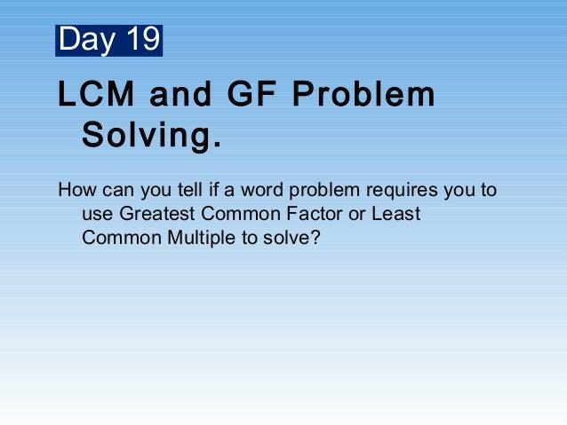 gcf and lcm problem solving