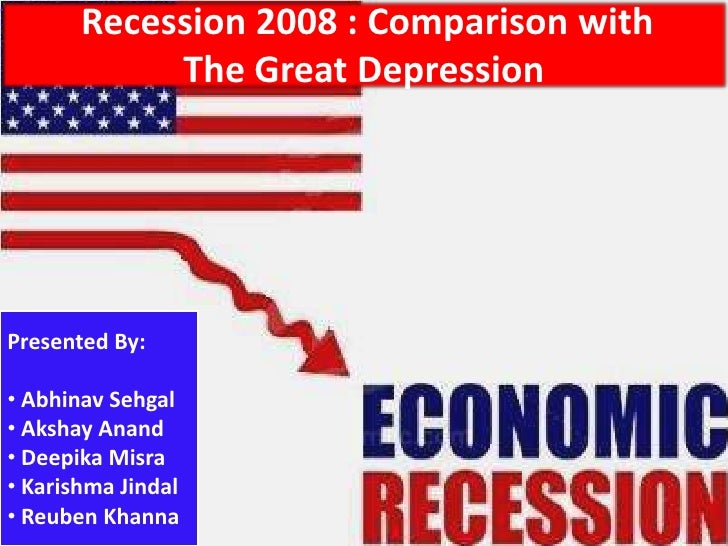 case study on recession in india