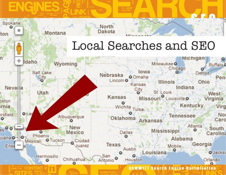 SEOLocal Searches and SEO        GCMW177 Search Engine Optimization