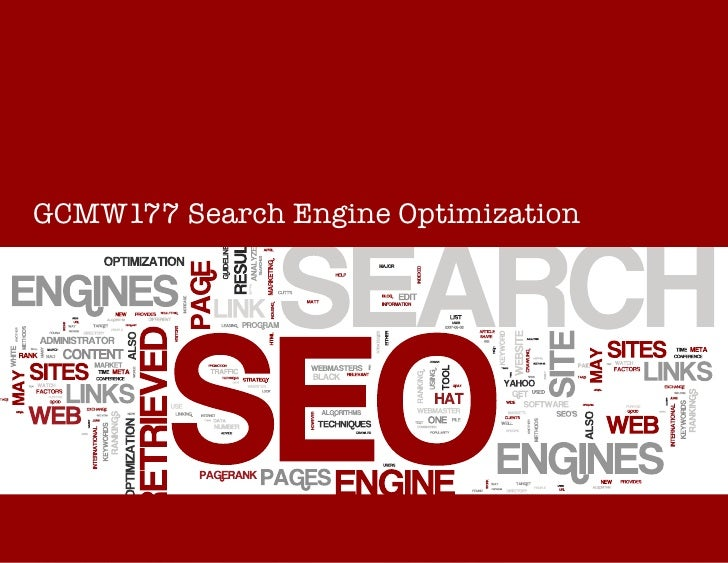 SEOGCMW177 Search Engine Optimization                       GCMW177 Search Engine Optimization
