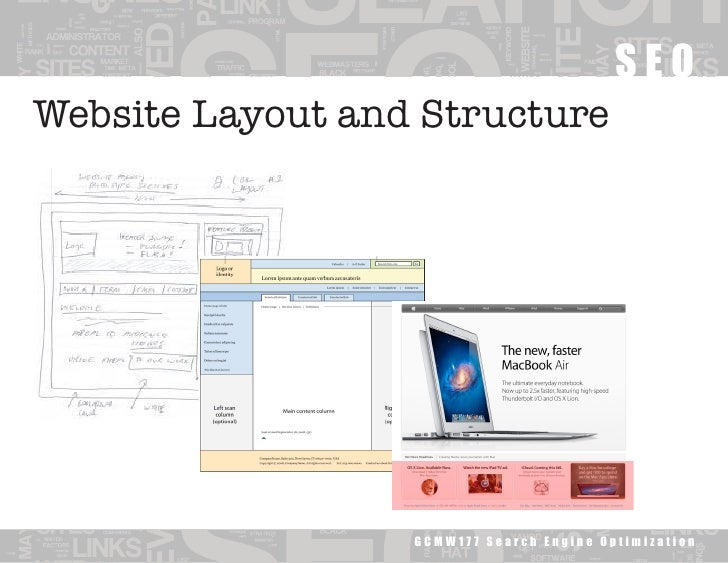 Website Layout and Structure