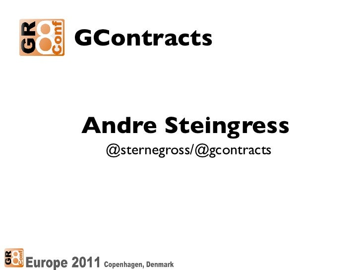 GContractsAndre Steingress  @sternegross/@gcontracts