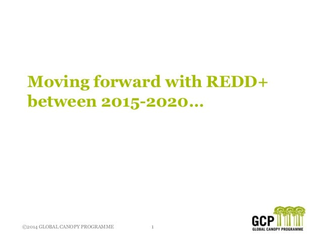©2014 GLOBAL CANOPY PROGRAMME 1 Moving forward with REDD+ between 2015-2020…