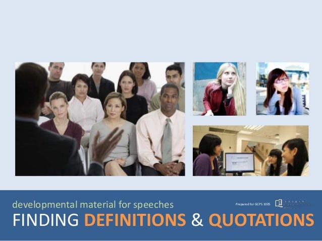 GCPS1005 Library mini-lecture 1: Finding definitions and quotations