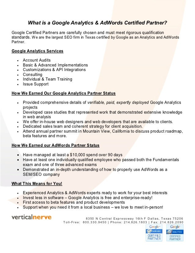 What is a Google Analytics & AdWords Certified Partner?Google Certified Partners are carefully chosen and must meet rigoro...