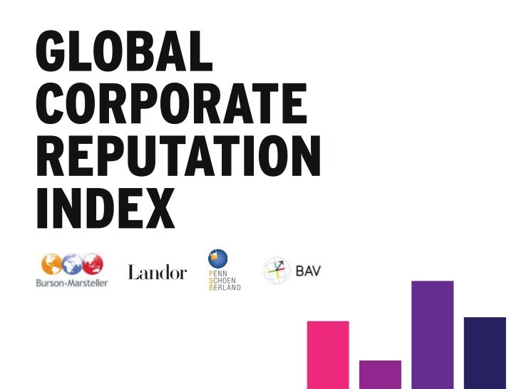 WHAT IS THE GLOBAL CORPORATEREPUTATION INDEX?Using BrandAsset Valuator data         6                         40,000+     ...