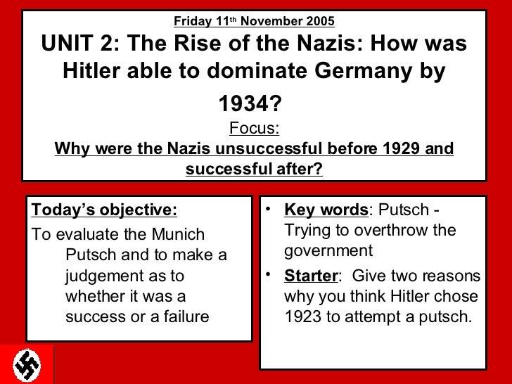 GCSE Germany - Munich Putsch