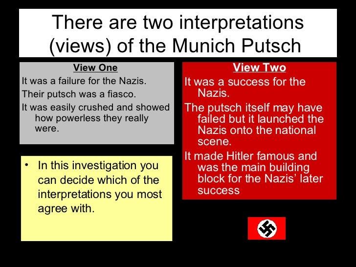 was the munich putsch a success The munich putsch: success or failure.