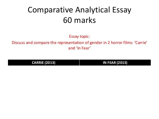 How do you create a Comparative-Analytical Essay?