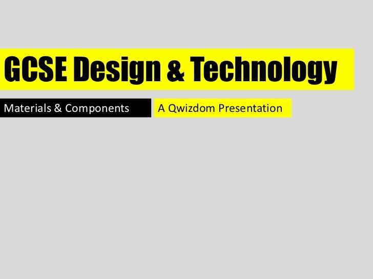 Gcse design & technology