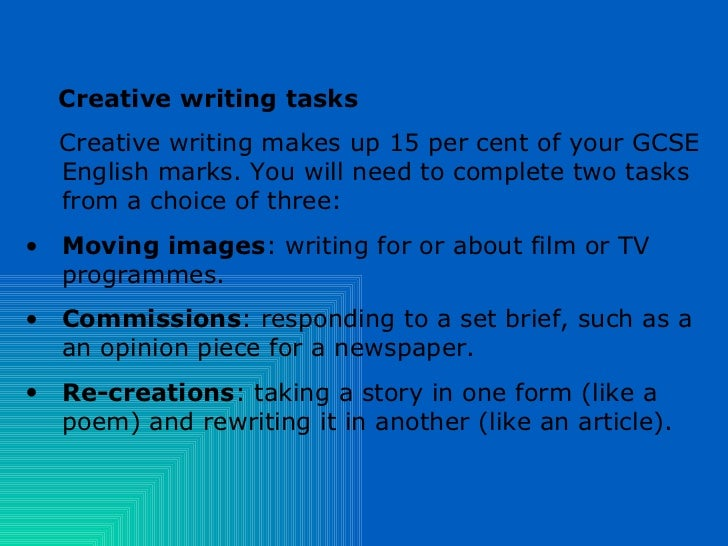 Creative writing help techniques gcse