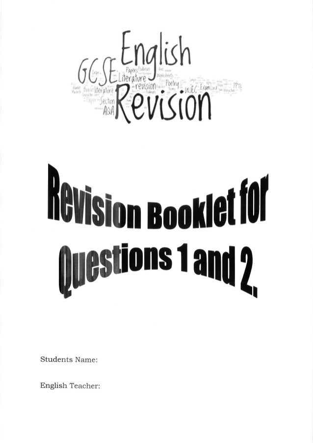 GCSE English Language Revision Q 1&2