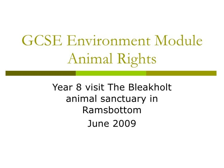 GCSE Environment Module Animal Rights Year 8 visit The Bleakholt animal sanctuary in Ramsbottom June 2009