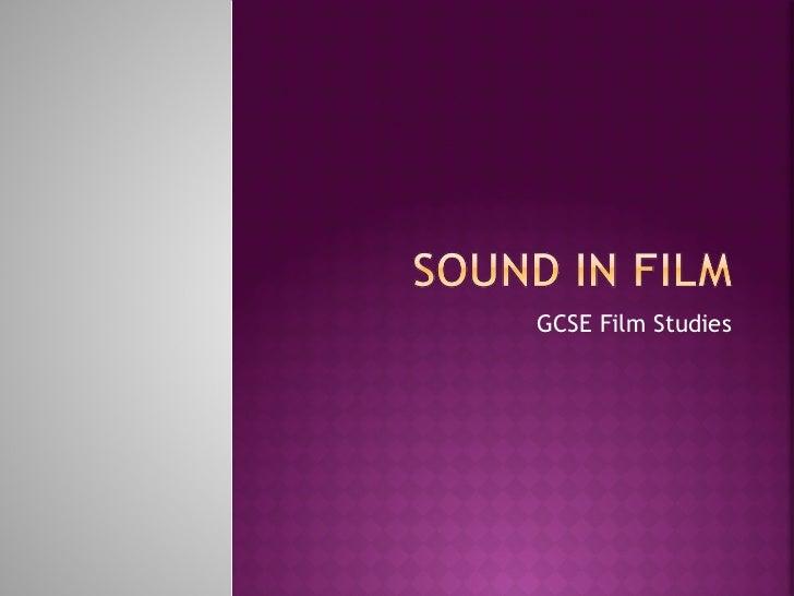 Gcse film sound