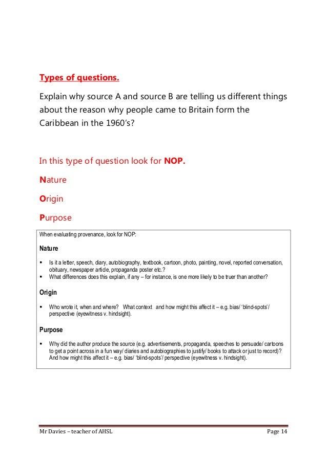 GCSE corsework history question...help?