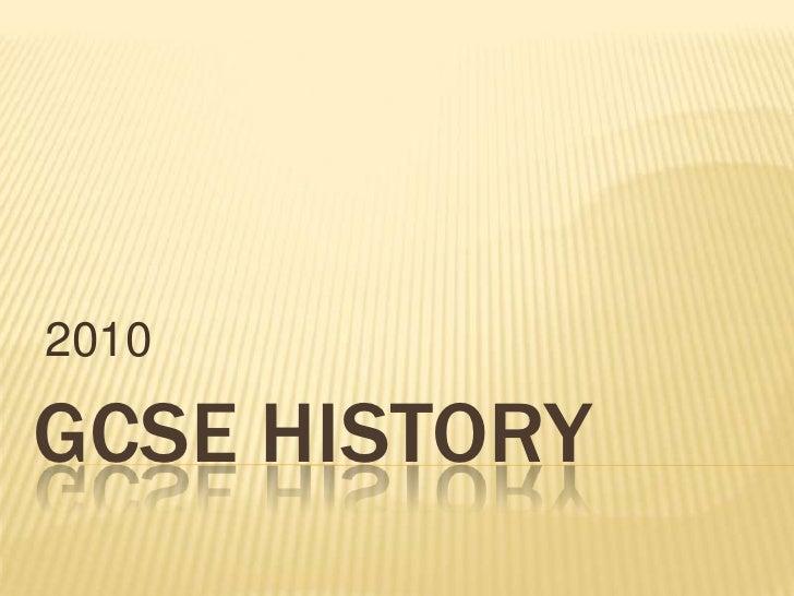 Gcse History Promotion 2010
