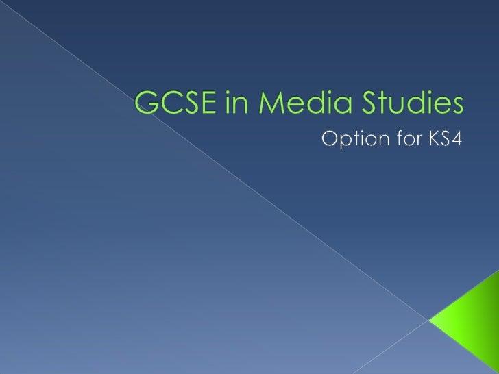 GCSE In Media Studies