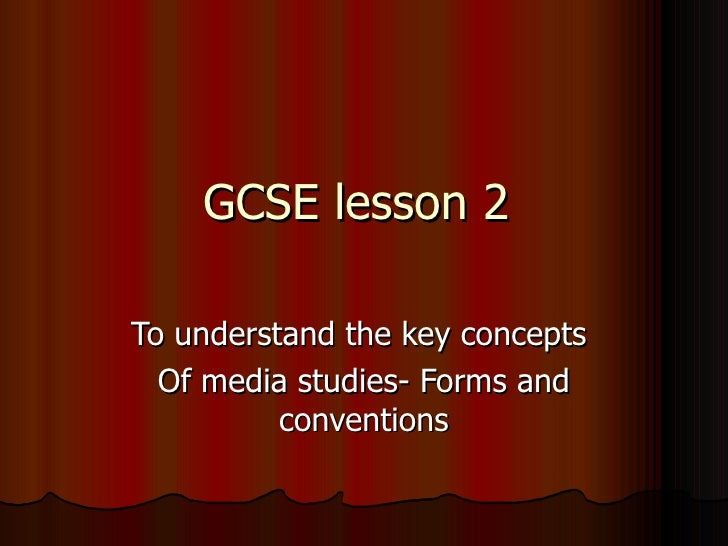 Gcse lesson 2