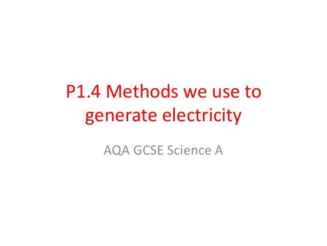 Gcse science a physics electricity