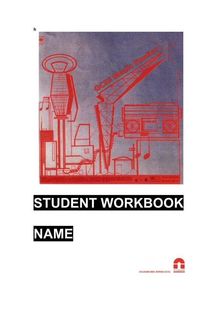 h     STUDENT WORKBOOK  NAME