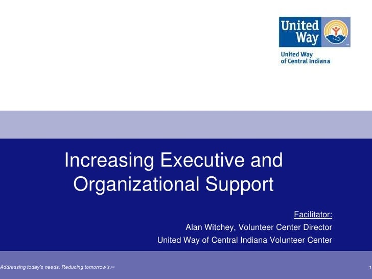 Increasing Executive and                           Organizational Support                                                 ...