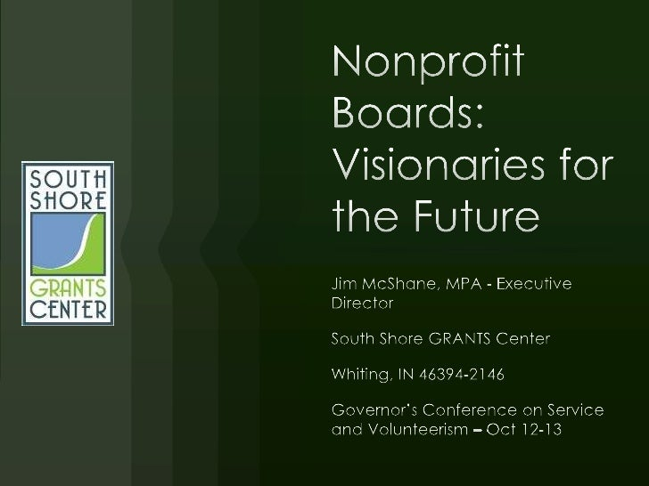 Gcsv2011 nonprofit boards-james mc shane