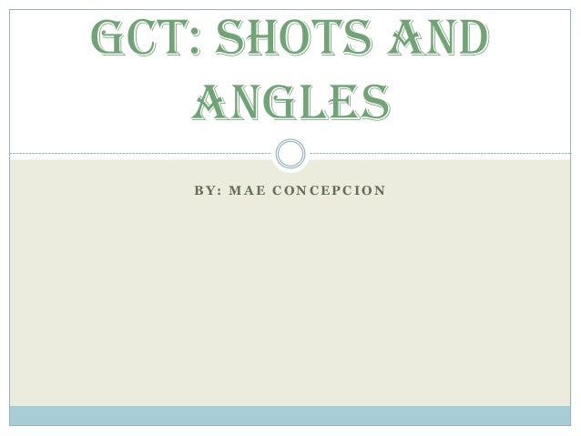 Mae Concepcion's Shots and Angles PowerPoint