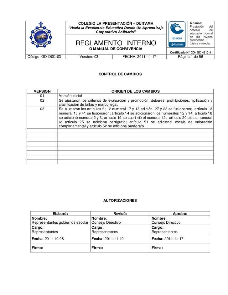 COLEGIO LA PRESENTACIÓN – DUITAMA                                    Alcance:                                             ...