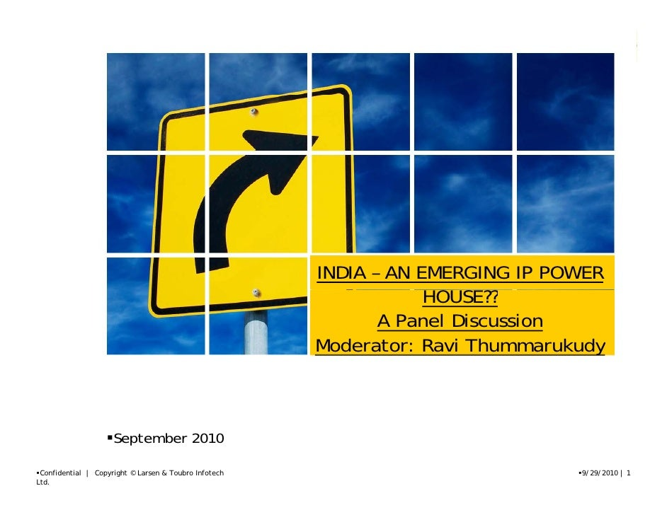 INDIA – AN EMERGING IP POWER                                                                    HOUSE??                   ...