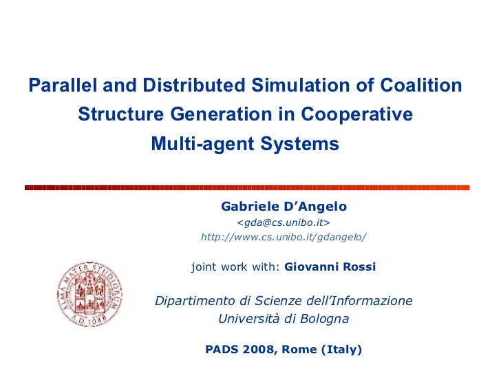 Parallel and Distributed Simulation of Coalition Structure Generation in Cooperative Multi-agent Systems