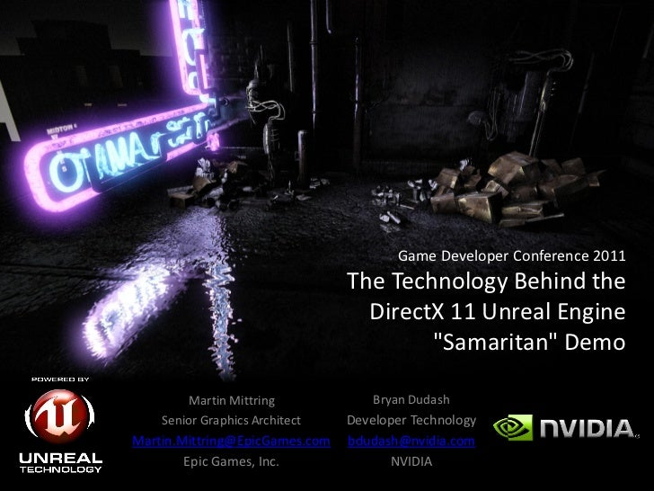 "The Technology Behind the DirectX 11 Unreal Engine""Samaritan"" Demo"