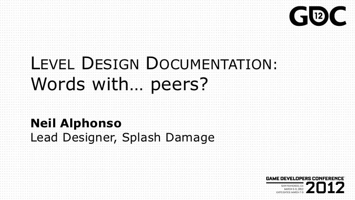 Level Design in a Day, GDC2012: Word with... Peers?